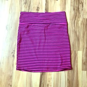 Pink & navy striped Charlotte Russe mini skirt